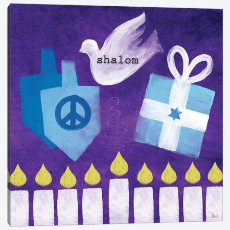 Shalom I Canvas Print #LDA134} by Linda Woods Canvas Artwork