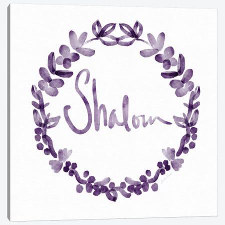 Shalom IV Canvas Print #LDA137} by Linda Woods Canvas Wall Art