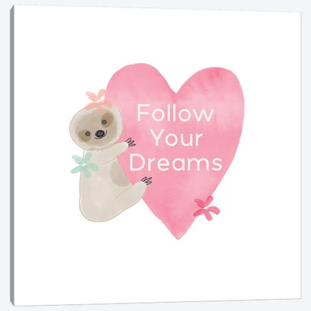 Follow Your Dreams II Canvas Print #LDA13} by Linda Woods Canvas Print