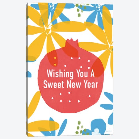 Sweet New Year Canvas Print #LDA141} by Linda Woods Canvas Art