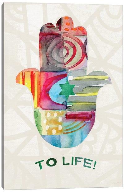 To Life Hamsa I Canvas Art Print
