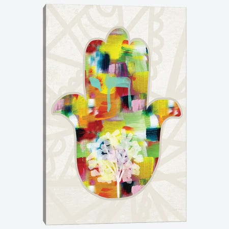 Tree of Life Hamsa Canvas Print #LDA146} by Linda Woods Canvas Print