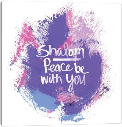 Unicorn Shalom Canvas Art Print