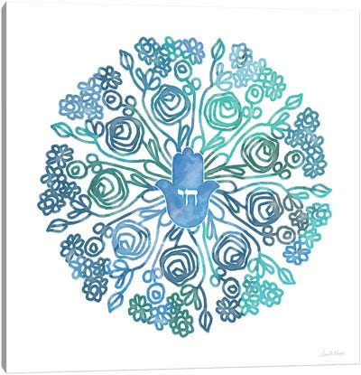 WC Hamsa Mandala Canvas Art Print