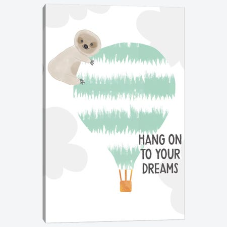 Hang On To Your Dreams Canvas Print #LDA14} by Linda Woods Canvas Wall Art