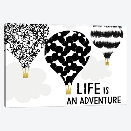 Life Is An Adventure Canvas Print #LDA15} by Linda Woods Canvas Wall Art