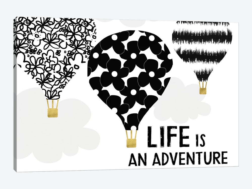 Life Is An Adventure by Linda Woods 1-piece Canvas Print