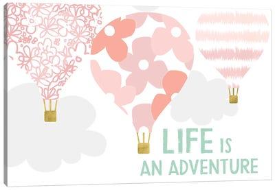 Life Is An Adventure, Pink Canvas Art Print
