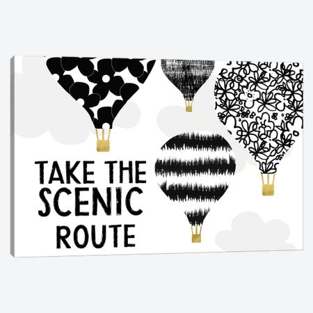 Scenic Route Canvas Print #LDA17} by Linda Woods Canvas Art