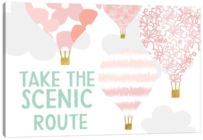 Scenic Route, Pink Canvas Art Print