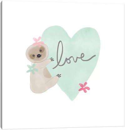 Sloth Love II Canvas Art Print