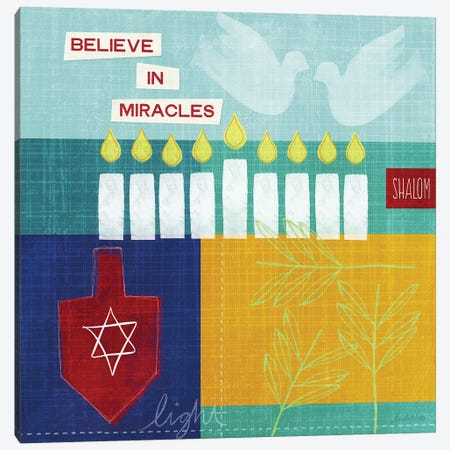 Believe in Miracles I Canvas Print #LDA25} by Linda Woods Canvas Print