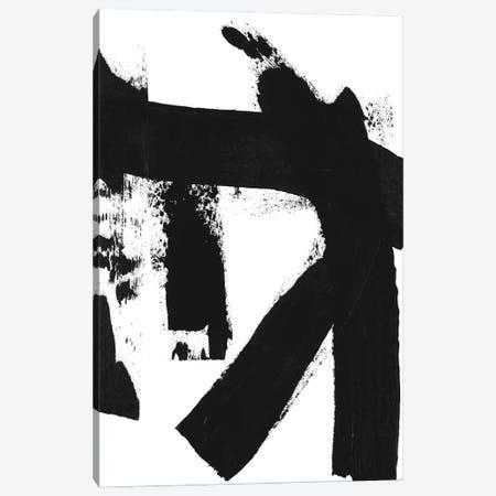 Black & White Brush Stroke II Canvas Print #LDA3} by Linda Woods Canvas Art