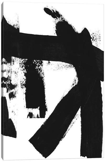 Black & White Brush Stroke II Canvas Art Print