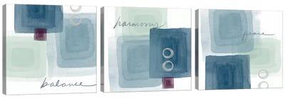 Balance+Harmony=Peace Triptych Canvas Art Print