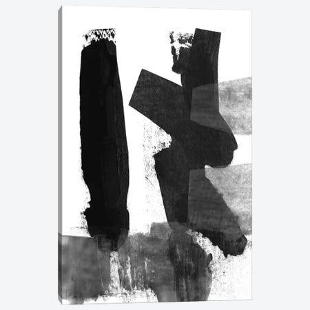 Black & White Brush Stroke III Canvas Print #LDA4} by Linda Woods Art Print