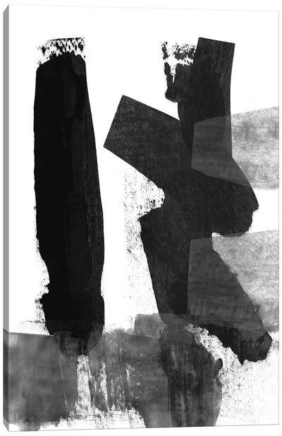 Black & White Brush Stroke III Canvas Art Print