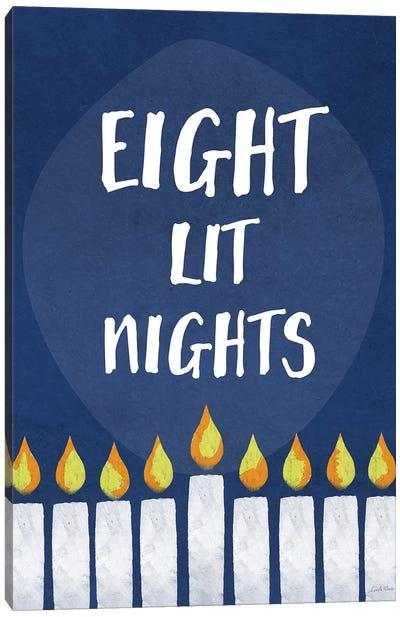 Eight Lit Nights Canvas Art Print