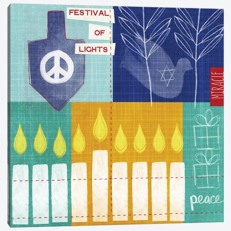 Festival of Lights Canvas Print #LDA57} by Linda Woods Canvas Art