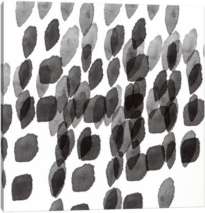 Black And White Drops Pattern Canvas Art Print