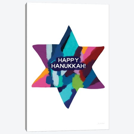 Hanukkah Canvas Print #LDA60} by Linda Woods Canvas Wall Art
