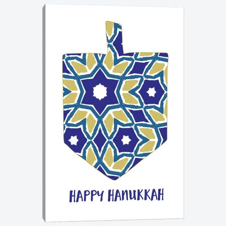 Hanukkah Dreidel Canvas Print #LDA62} by Linda Woods Canvas Art