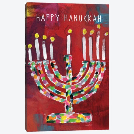 Hanukkah Menorah I Canvas Print #LDA64} by Linda Woods Art Print