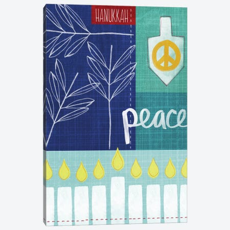 Hanukkah Peace Canvas Print #LDA67} by Linda Woods Canvas Art Print