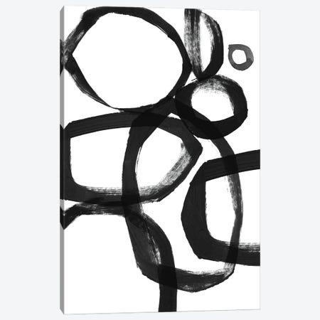 Brushstroke Circles Canvas Print #LDA6} by Linda Woods Art Print