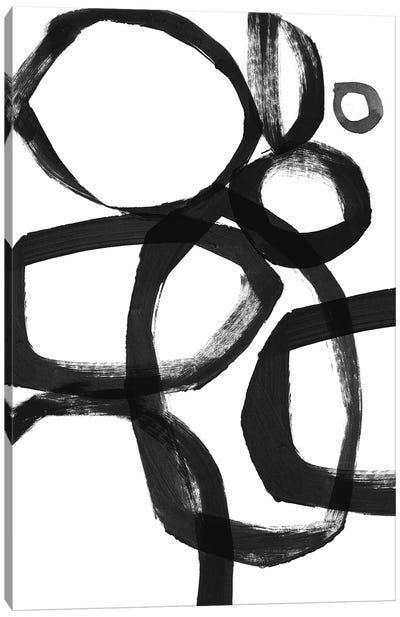 Brushstroke Circles Canvas Art Print
