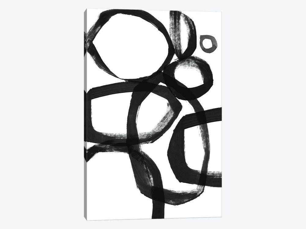 Brushstroke Circles by Linda Woods 1-piece Canvas Art