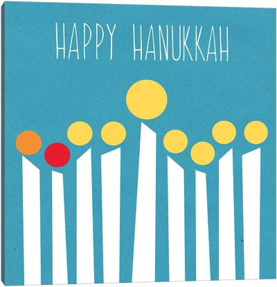 Happy Hanukkah II Canvas Art Print