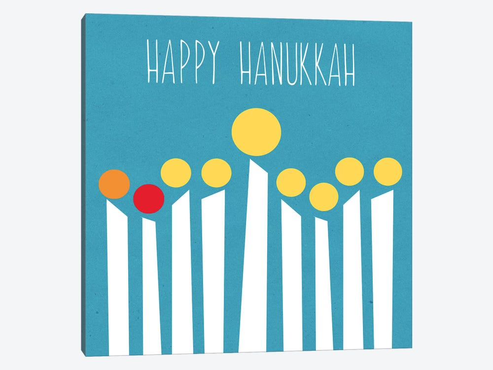 Happy Hanukkah II by Linda Woods 1-piece Canvas Art