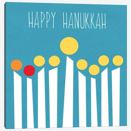 Happy Hanukkah II Canvas Print #LDA72} by Linda Woods Art Print