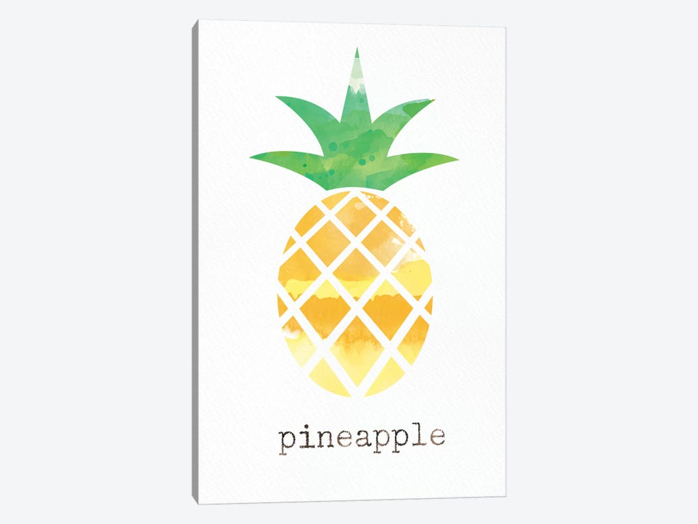 Pineapple by Linda Woods 1-piece Canvas Art Print