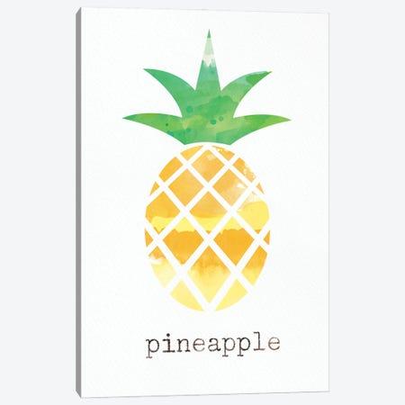 Pineapple Canvas Print #LDA7} by Linda Woods Art Print