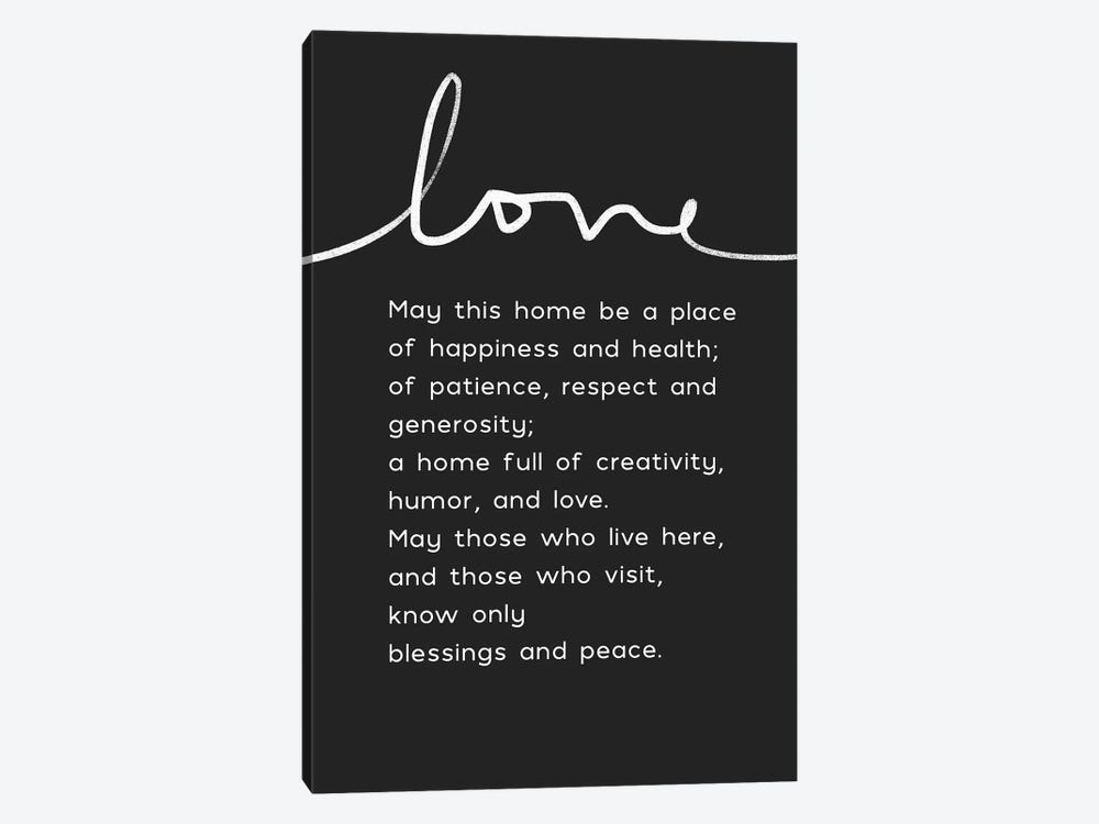 Home Blessing BW by Linda Woods 1-piece Canvas Art Print