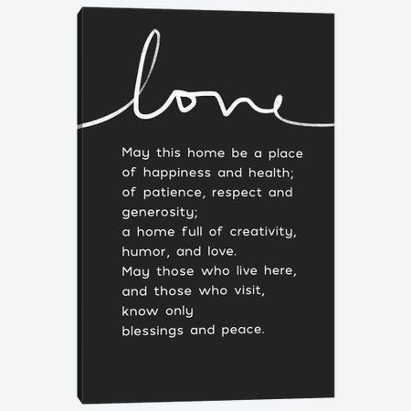 Home Blessing BW Canvas Print #LDA82} by Linda Woods Canvas Artwork