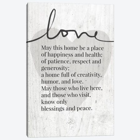 Home Blessing Rustic Canvas Print #LDA83} by Linda Woods Canvas Art
