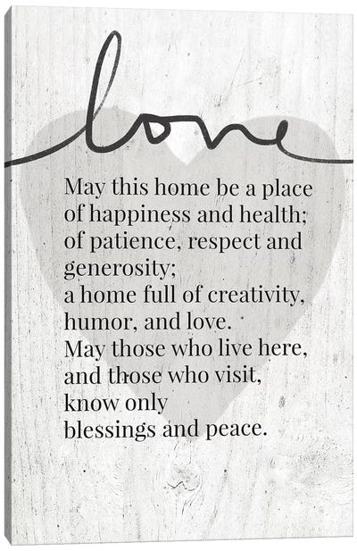 Home Blessing Rustic Canvas Art Print