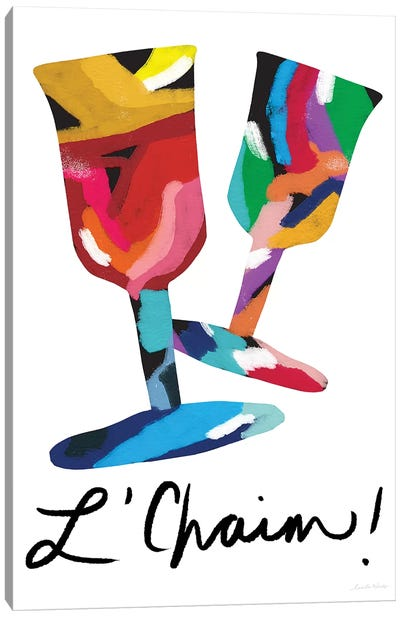 L'Chaim Glasses Canvas Art Print
