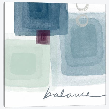 Soothing Balance Canvas Print #LDA8} by Linda Woods Canvas Wall Art