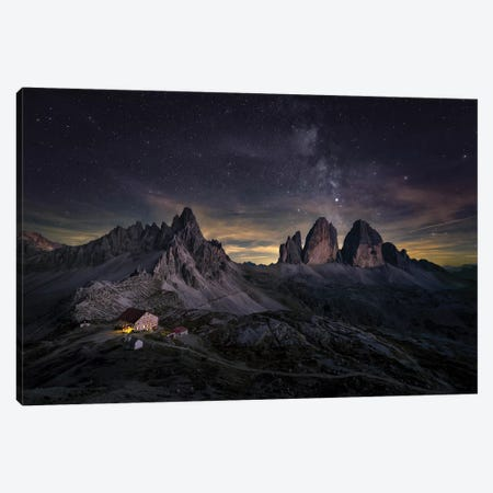 Tre Cime Di Lavaredo Canvas Print #LDE1} by Larry Deng Canvas Artwork