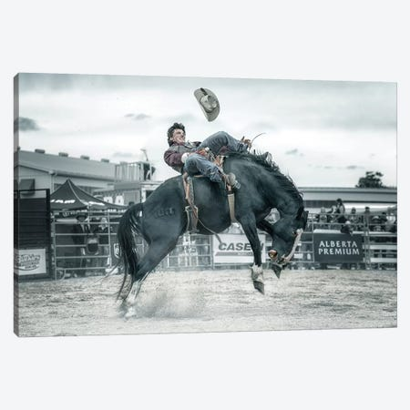 Cowboy In Action Canvas Print #LDE3} by Larry Deng Canvas Art
