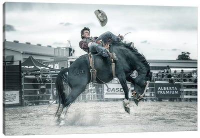 Cowboy In Action Canvas Art Print