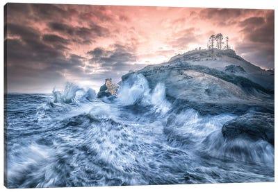 Crashing Sea Cape Kiwanda Canvas Art Print