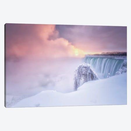 Sunrise At Niagara Falls Canvas Print #LDE9} by Larry Deng Canvas Wall Art