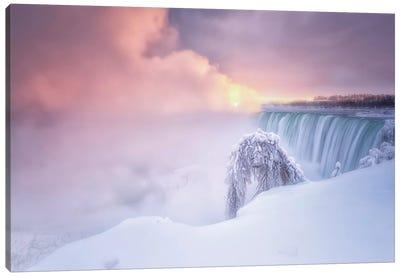 Sunrise At Niagara Falls Canvas Art Print
