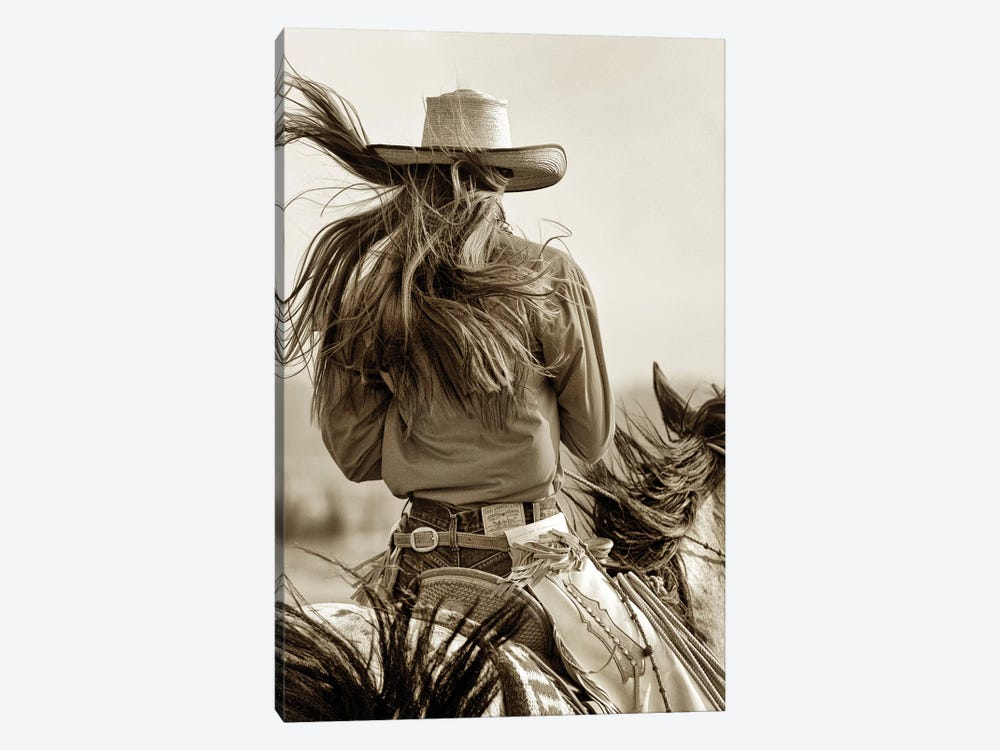 Cowgirl by Lisa Dearing 1-piece Art Print