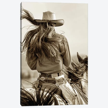 Cowgirl Canvas Print #LDG1} by Lisa Dearing Canvas Wall Art